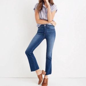 Madewell Cali Demi Boot Jeans in Marco Wash